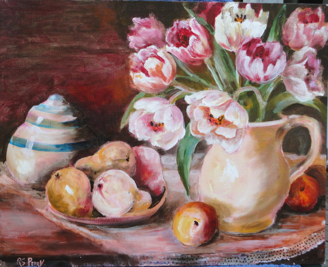 Tulips, Pears and a Pitcher