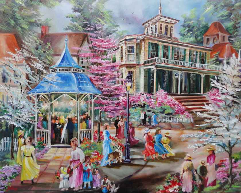 Fantasy Wedding by R. S. Perry, 24 x 30 oil on canvas 3