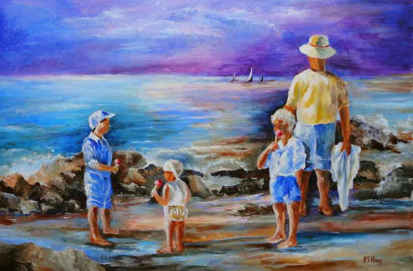 Seaside by R. S. Perry, 24 x 36 acrylic on canvas 3