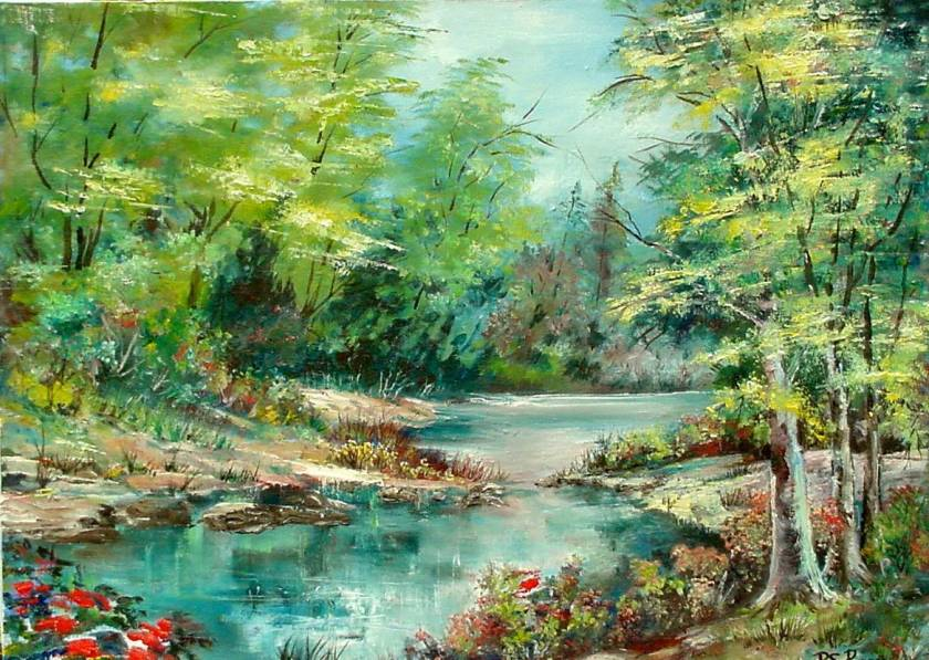 #11 October Morning by the Lake 18x24
