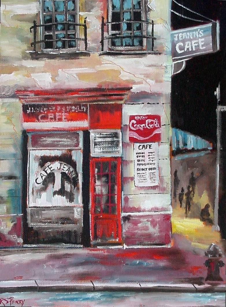 #18 Jeann's Cafe 12x16 (Sold)