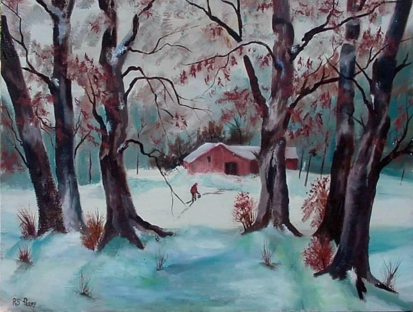 #20 Snowy Landscape 20x24