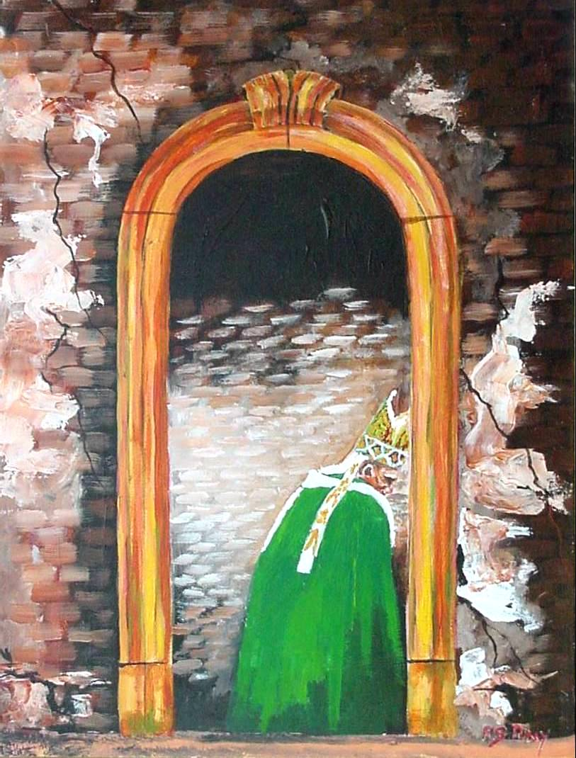 #28 The Ancient Door of the Church 12x16