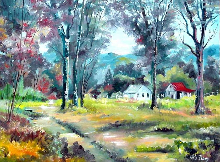 #33 September Morning in the Country 12x16