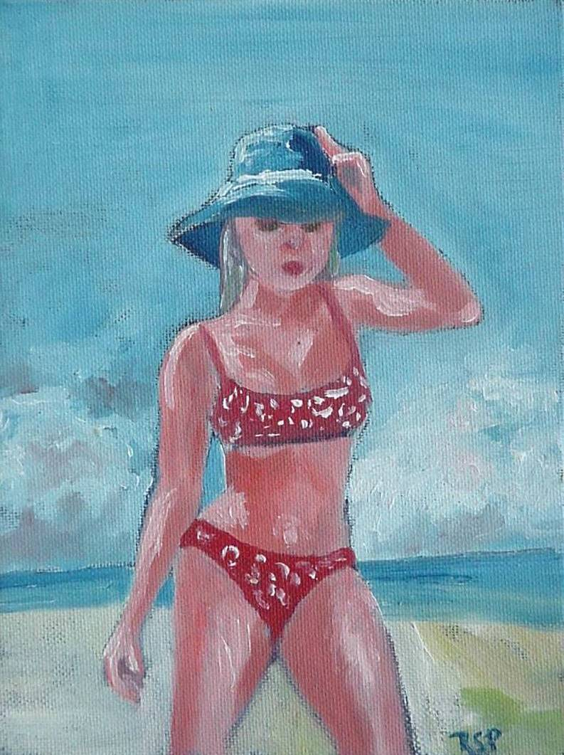 #37 On the Beach 6x8