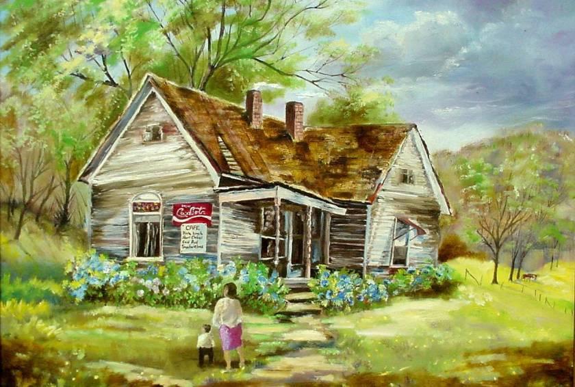 #41 Spring Cafe 18x24 (Sold)