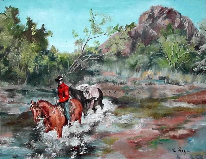 #46 Crossing the Creek 14x18
