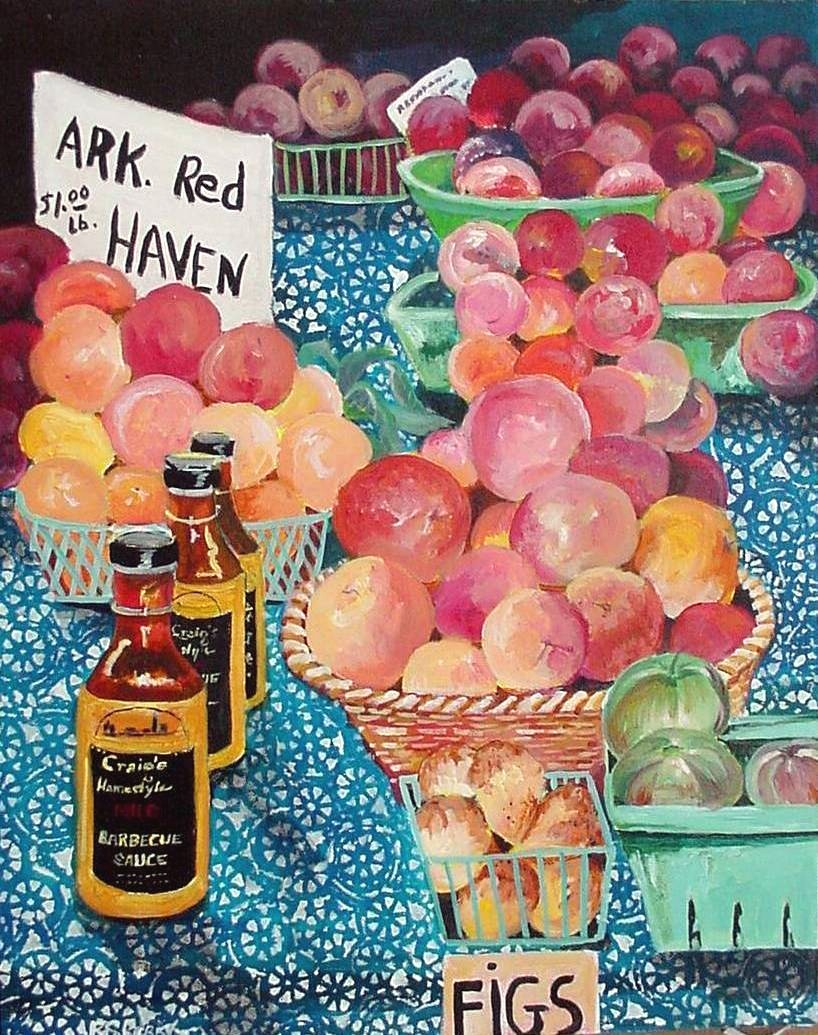 #48 River Market Peaches16x20