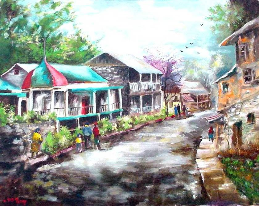 #52 Eureka Springs street scene 16x20