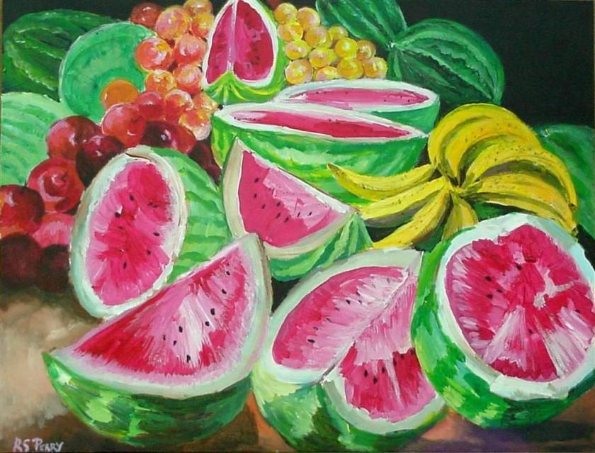 #57 Watermelons 12x16 (Sold)