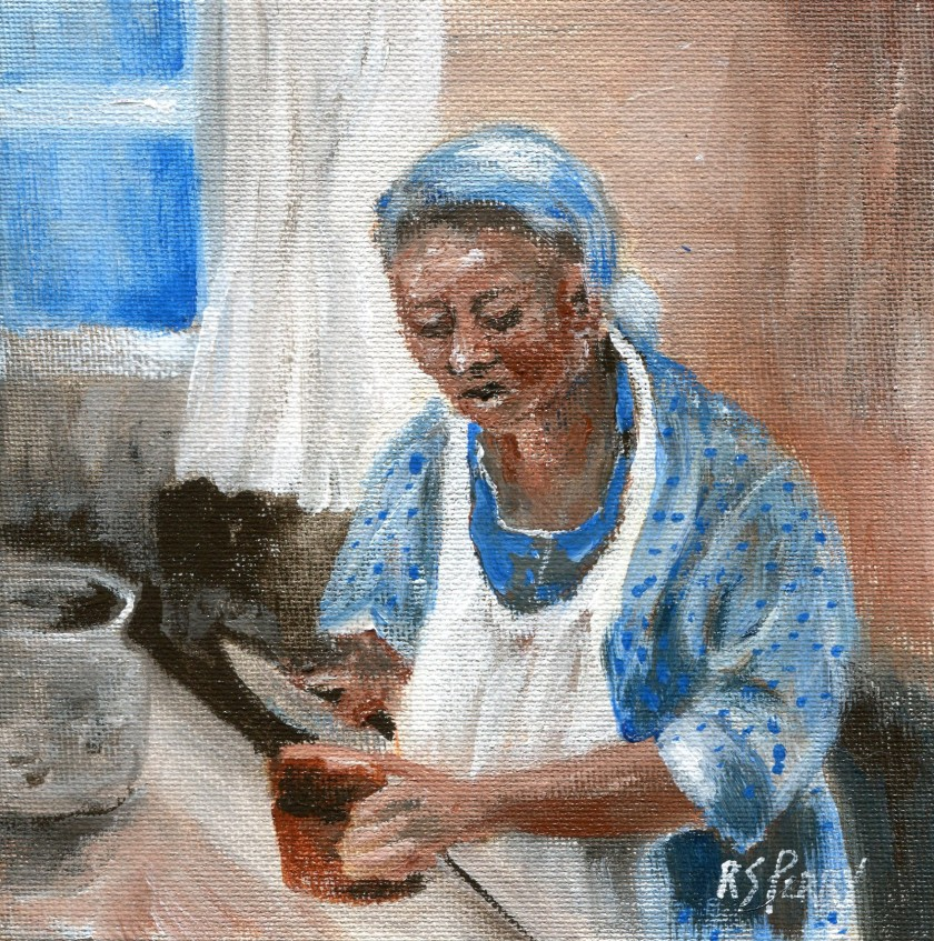 2.6.2019-007 Gullah Woman slicing bread